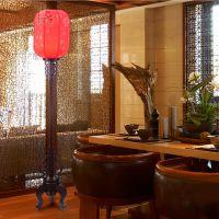 仿古中式落地灯实木古典 中式羊皮落地灯客厅卧室宫廷落地灯5002