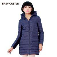 2014冬季新款羽绒服女款中长款修身厂家批发羽绒服大毛领韩版9901