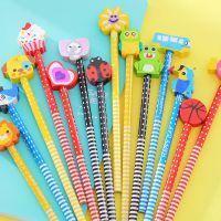 厂家批发卡通铅笔橡皮擦文具奖品木质铅笔儿童幼儿园