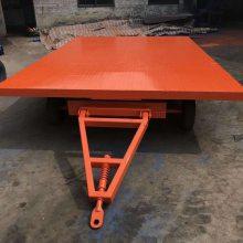 鑫力山东7吨行李平板拖车厂家|牵引平板拉板车厂家定做