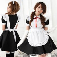 秋叶原咖啡厅服务员黑白女仆装cosplay服装轻音女佣cos动漫服装