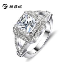 s925纯银戒指 欧美戒指 微镶戒指 锆石镶嵌 速卖通货源