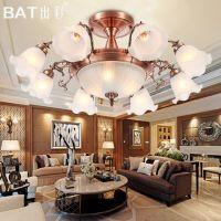 出彩欧式吸顶灯铁艺灯具现代简约大气客厅卧室书房餐厅灯饰5075