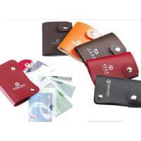 佳琦定制仿真皮纯色磁扣10卡位名片包可加印logo18040018917