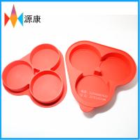 3格圆形宝宝辅食盒 冰格 食品级硅胶婴儿储存盒 冰块模具