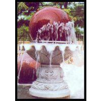 旺通雕塑|晚霞红风水球喷泉|黑龙江风水球石喷泉