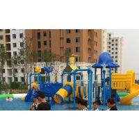 郑州卧龙厂家融入更多新型水帘技术豪华型水寨游乐设施深受孩子喜爱