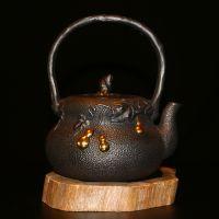 日本铁壶龙秀堂厂家招代理高端鎏金铸铁茶壶招商加盟葫芦
