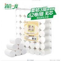 武汉清亮一度原生木浆无芯卷纸卫生纸家用卷纸可批发零售