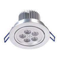供应南宁红太阳 LED天花灯 高亮度 寿命长 7W 工程专用照明 节能灯批发