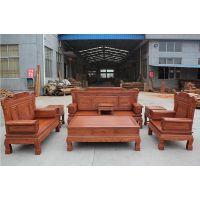 东阳红木厂家直销非洲花梨缅甸花梨喜庆满堂1 2 3沙发,红木沙发价格,红木沙发图片
