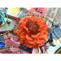 VIVI同款仿真花波西米亚沙滩头花发饰头花发饰胸花牡丹花 国花