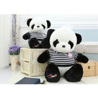 批发毛绒玩具国宝大熊猫公仔黑白条纹LOVE熊猫泰迪熊 一件发货