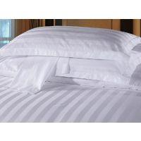 宾馆酒店旅馆床上用品 全棉纯白提花四件套