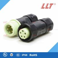 LLT-M20-5芯防水航空插头,公母对接插头,LED接线头, LED航空插头配件,航空插头插座配件