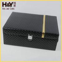 生产销售 HY1068高端礼品酒盒 皮质手提酒盒