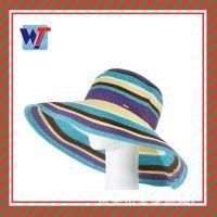 东莞帽厂定做帽子夏天 出口拉菲草帽 韩版时尚沙滩帽大沿帽外贸