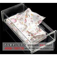 厂家直销亚克力纸巾盒KTV酒店方形亚克力纸巾盒子定做