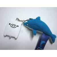 专业定制企业礼品短毛绒海豚毛绒钥匙扣