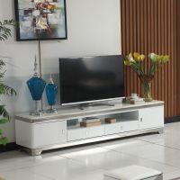 现代时尚高档客厅家具大理石台面桌面不锈钢电视柜特价包邮A666#