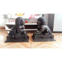 铜雕门狮(图)|铸铜狮子|内蒙古铜狮子