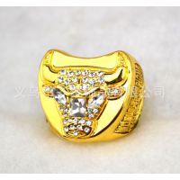 欧美流行热销 男士戒指收藏 1997公牛队戒指 篮球球迷戒指
