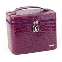 工厂直销  立体定型化妆盒 化妆箱 鳄鱼纹PU化妆包 多色选择