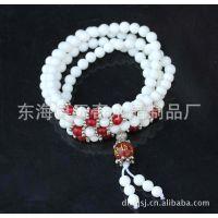 惊爆价  天然白砗磲108颗佛珠 念珠手链 时尚多层手链