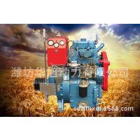 潍坊华旭双缸水冷柴油机 离合式皮带轮 双缸内燃机 柴油机2110