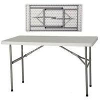 Rectangular Blow Mold HDPE Folding Steel Tube Table