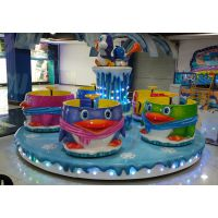 布努托儿童游艺机大型游乐设备转杯亲子企鹅转转杯
