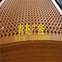 青岛广能GM0402黑红绿现代简约排水橡胶垫 厨房垫 带孔防滑垫