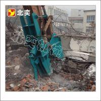 挖掘机房屋拆迁设备,液压粉碎剪,剪断钢筋回收设备