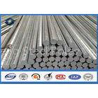 69KV 30FT 35FT Octagonal Galvanized Steel Pole for Distribution 345 Mpa Min Yield Stress