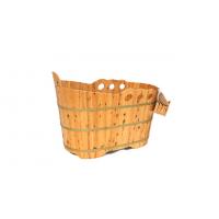 厂家直销香柏木桶浴缸沐浴桶泡澡木桶 香柏木桶浴缸波纹SPA浴桶