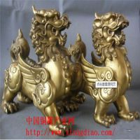 供应新款特卖铜雕麒麟摆件,佛像厂家供应