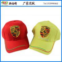 厂家定做帽子 六页刺绣法拉利图案时尚情侣棒球帽  情侣赛车帽