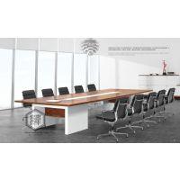 天津实木会议桌图片,会议桌价格,办公家具厂家大促,八人会议桌尺寸