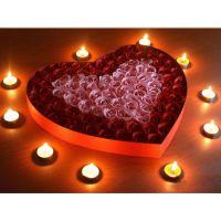 浪漫爱心玫瑰香皂花 红粉100朵花 创意情人节礼物生日礼品香皂花