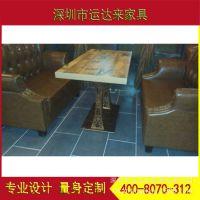 运达来直销实心防火板餐桌 连锁餐厅私房菜桌椅 工厂打样订做批发
