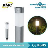 供应墅之景 可自动亮灯功能不锈钢草坪灯 人体感应不锈钢太阳能灯