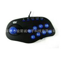 厂家直销 惠康黑旋风电脑游戏摇杆 双振动格斗摇杆 WE-6100正品