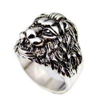 欧美外贸速卖通eBay热卖狮子座戒指 复古个性男戒指 夸张指环
