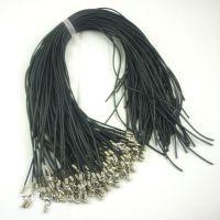 黑色皮绳 真皮绳项链 绳线批发手工皮绳厂家批发 硅胶皮绳項繩