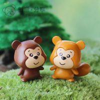 情侣狸猫松鼠 苔藓微景观创意DIY素材配件饰品装饰可爱卡通萌系
