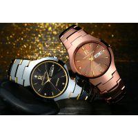 天朗格腕表瑞士正品钨钢手表男 学生休闲商务超薄女士手表防水个性非机械表