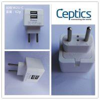 Ceptics 牌子USB充电插头,5V3A适配器 CE认证 手机及其它数码产品用插头