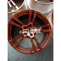 轮毂电镀修复 20寸保时捷胎龄钢圈亮面翻新改装