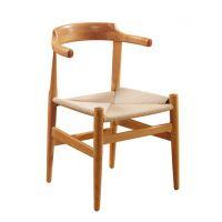 供应白蜡木牛角椅 实木家具餐椅 酒店餐厅书房休闲椅子 实木椅