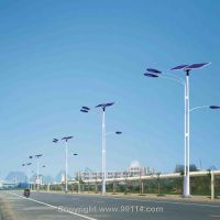 汉能鄂州6m24w新农村太阳能路灯价格